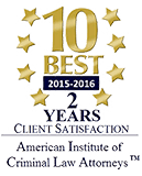 American Institute of Criminal Law Attorneys - 10 Best